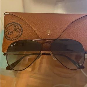 Authentic Brown Ray Ban Aviators